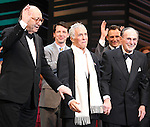 "Neil Simon, Sean Hayes, Hal David, Rob Ashford, Katie Finneran.taking a bow on the  Opening Night Broadway performance Curtain Call for ""PROMISES, PROMISES"" at the Broadway Theatre, New York City..April 25, 2010."
