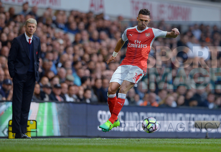 Kieran Gibbs of Arsenal during the English Premier League match at the White Hart Lane Stadium, London. Picture date: April 30th, 2017.Pic credit should read: Robin Parker/Sportimage