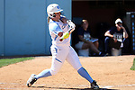 24 April 2016: North Carolina's Tracy Chandless. The University of North Carolina Tar Heels hosted the University of Notre Dame Fighting Irish at Anderson Stadium in Chapel Hill, North Carolina in a 2016 NCAA Division I softball game. UNC won game 1 of the doubleheader 7-4.