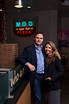 Portrait of MOD Pizza CEO Scott Svenson and wife, Ally Svenson, at one of their locations in downtown Seattle, Washington. The pizza chain has expanded around the globe at a brisk pace. Photo by Daniel Berman.