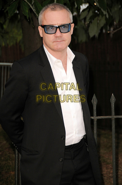 DAMIEN HIRST.The Summer Party at The Serpentine Gallery, London, England. .July 9th, 2009 .half length damian black suit jacket tinted glasses sunglasses shades .CAP/CAS.©Bob Cass/Capital Pictures.