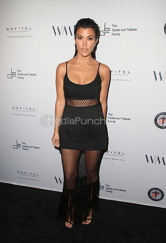 LOS ANGELES, CA - MAY 4:  Kourtney Kardashian at the Syrian American Medical Society benefit event hosted by Amber Heard at The Sofitel Hotel in Los Angeles, California on May 4, 2018. Credit: Faye Sadou/MediaPunch