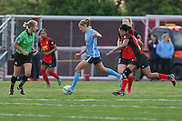 Piscataway, NJ, Saturday May 7, 2016. Sky Blue midfielder Sarah Killion (16) prepares to send the ball upfield. The Western New York Flash defeated Sky Blue FC, 2-1, in a National Women's Soccer League (NWSL) match at Yurcak Field.