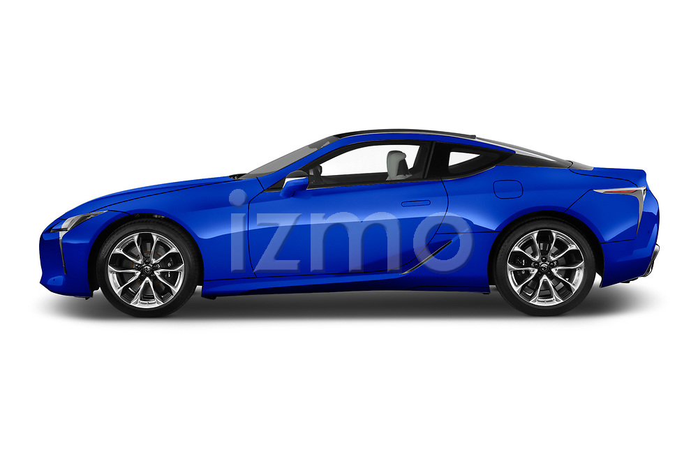 Car driver side profile view of a 2018 Lexus LC Blue Edition 2 Door Coupe