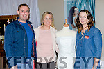 Roger Harty and Veronica O'Shea Ballinskelligs with Kate Cremin Kenmare at the Kerry Wedding fair in the INEC on Sunday