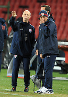 USA manager Bob Bradley during training at Ellis Park, Johannesburg on June 27, 2009 in preparation for the FIFA Confederations Cup Final against Brazil.