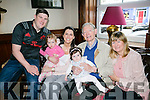 Rory Sweeney originally from Ballyduff now living in Ballybunion celebrated his his 96th birthday with family L-R  Grahame Sheehy, Naomi Sheehy, Sadhbh Sheehy, Rory Sweeney, Aibhin Masterson and Ann Sheehy. on Sunday at the Grand Hotel