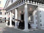 The historic Convent Guard House building, Gibraltar, British overseas territory in southern Europe