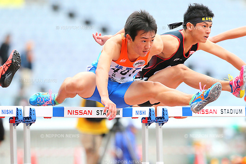 Kosuke Kubota, <br /> OCTOBER 30, 2016 - Athletics : <br /> The 47th Junior Olympic Athletics Tournament, <br /> Men's 110m Junior Hurdles A Semi-final <br /> at Nissan Stadium in Kanagawa, Japan. <br /> (Photo by AFLO SPORT)