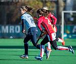 Laren - Klaartje de Bruijn (Lar)  tijdens de Livera hoofdklasse  hockeywedstrijd dames, Laren-Oranje Rood (1-3).  COPYRIGHT KOEN SUYK