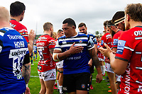 Anthony Perenise of Bath Rugby looks on after the match. Gallagher Premiership match, between Bath Rugby and Gloucester Rugby on September 8, 2018 at the Recreation Ground in Bath, England. Photo by: Patrick Khachfe / Onside Images