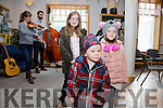 Listening to US Bluegrass band Mile Twelve at the Cahersiveen Credit Union on Saturday part of the Mountain Roots Music Weekend held in  Cahersiveen were front Ryan O'Sullivan with Hannah O'Dwyer-Foley & Ella O'Sullivan.