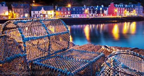 Lobster pots, Tobermory harbour, Isle of Mull, Scotland.