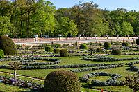 France, Indre-et-Loire (37), Chenonceaux, château et jardins de Chenonceau, le jardin de Diane de Poitiers