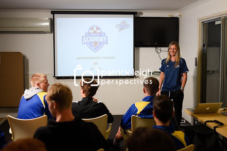 BRISBANE, AUSTRALIA - AUGUST 9:  during the Brisbane Strikers Academy Session at Meakin Park on August 9, 2019 in Brisbane, Australia. (Photo by Patrick Kearney)
