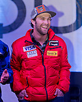 Travis Ganong during the Olympic Homecoming  Celebration at Squaw Valley on Friday night, March 21, 2014.
