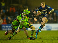 Bath Rugby's Tom Homer in action during todays match<br /> <br /> Photographer Bob Bradford/CameraSport<br /> <br /> Anglo-Welsh Cup Semi Final - Bath Rugby v  Northampton Saints - Friday 9th March 2018 - The Recreation Ground - Bath<br /> <br /> World Copyright &copy; 2018 CameraSport. All rights reserved. 43 Linden Ave. Countesthorpe. Leicester. England. LE8 5PG - Tel: +44 (0) 116 277 4147 - admin@camerasport.com - www.camerasport.com