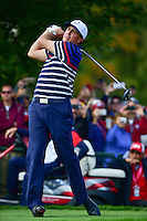 Phil Mickelson (USA) watches his tee shot on 11 during the practice round at the Ryder Cup, Hazeltine National Golf Club, Chaska, Minnesota, USA.  9/29/2016<br /> Picture: Golffile | Ken Murray<br /> <br /> <br /> All photo usage must carry mandatory copyright credit (&copy; Golffile | Ken Murray)