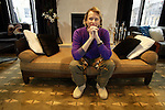 "Carson Kressley, flamboyant star of YV's ""Queer Eye for the Straight Guy"", in the lobby of the W Hotel in Seattle. Kressley was in town promoting his fashion book of tips for the straight men, ""Off the Cuff."" .Jim Bryant Photo. ©2008. All Rights Reserved"