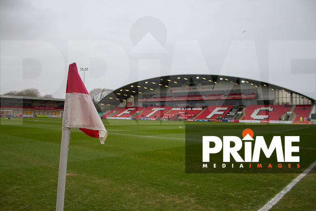 Pre-Match Shots during the Sky Bet League 1 match between Fleetwood Town and Scunthorpe United at Highbury Stadium, Fleetwood, England on 26 January 2019. Photo by James  Gill / PRiME Media Images.