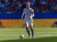 PARIS,  - JUNE 16: Becky Sauerbrunn #4 dribbles during a game between Chile and USWNT at Parc des Princes on June 16, 2019 in Paris, France.