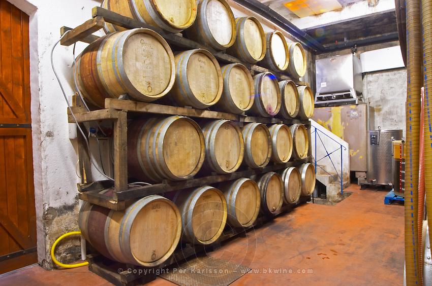 Domaine Madeloc, Banyuls sur Mer. Roussillon. Barrel cellar. France. Europe.