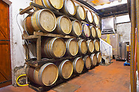 Domaine Madeloc, Banyuls sur Mer. Roussillon. Barrel cellar. France. Europe.