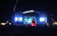 Highfield Festival 2014 auf der Magdeborner Halbinsel am Störmthaler See - im Bild: Auftritt der US-Band BLINK-182.  Foto: aif / Norman Rembarz<br /> <br /> Jegliche kommerzielle wie redaktionelle Nutzung ist honorar- und mehrwertsteuerpflichtig! Persönlichkeitsrechte sind zu wahren. Es wird keine Haftung übernommen bei Verletzung von Rechten Dritter. Autoren-Nennung gem. §13 UrhGes. wird verlangt. Weitergabe an Dritte nur nach  vorheriger Absprache. Online-Nutzung ist separat kostenpflichtig.