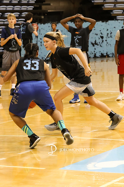 July 09, 2017: during Antawn Jamisons All Star camp held at the Dean Smith Center in Chapel Hill, NC (photo credit by Jim Dedmon)