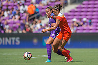 Orlando, FL - Saturday June 24, 2017: Monica, Carli Lloyd during a regular season National Women's Soccer League (NWSL) match between the Orlando Pride and the Houston Dash at Orlando City Stadium.