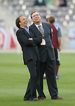 19 May 2007: Colorado head coach Fernando Clavijo (URU) (left) and general manager Charles (Charlie) Wright (r). The Colorado Rapids and the Kansas City Wizards played to a 1-1 tie at Dick's Sporting Goods Park in Commerce City, Colorado in a Major League Soccer 2007 regular season game.