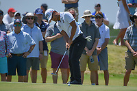 Satoshi Kodaira (JPN) watches his putt on 1 during round 2 of the AT&amp;T Byron Nelson, Trinity Forest Golf Club, at Dallas, Texas, USA. 5/18/2018.<br /> Picture: Golffile | Ken Murray<br /> <br /> <br /> All photo usage must carry mandatory copyright credit (&copy; Golffile | Ken Murray)