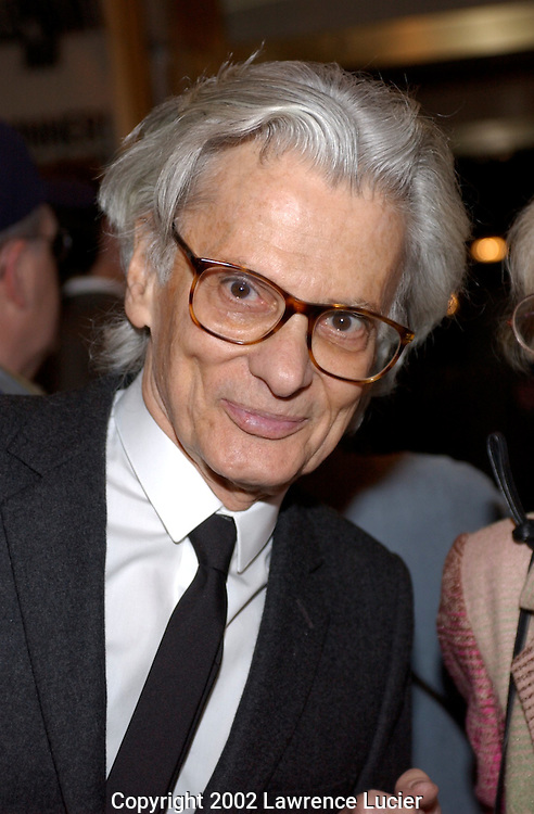 Photographer Richard Avedon arrives at the opening night of the play Elephant Man April 14, 2002 in New York City..