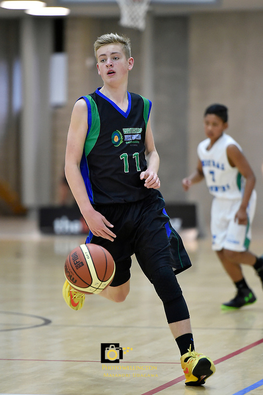 Action from the Basketball - U15 National Championships at ASB Sports Centre, Wellington, New Zealand on Thursday  16 July 2015.<br />