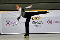 BOGOTÁ - COLOMBIA, 04-09-2018: Collin Motley, deportista de Estados Unidos, durante prueba de Programa Corto, Juvenil Varones en Linea, en el Campeonato Panamericano Patinaje Artístico, en el Coliseo El Salitre de la Ciudad de Bogotá. / Collin Motley, sportman from United States, during the Short Program Junior Men test, in the Panamerican Figure Skating Championship the El salitre Coliseum in Bogota City. Photo: VizzorImage / Luis Ramirez / Staff.