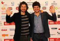 Alessandro Siani  and Fabio de Luigi   attend at the professional days of cinema in Sorrento december 02 , 2024