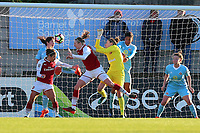 Louise Quinn of Arsenal is denied by Rachael Laws of Sunderland during Arsenal Women vs Sunderland AFC Ladies, FA Women's Super League FA WSL1 Football at Meadow Park on 12th November 2017