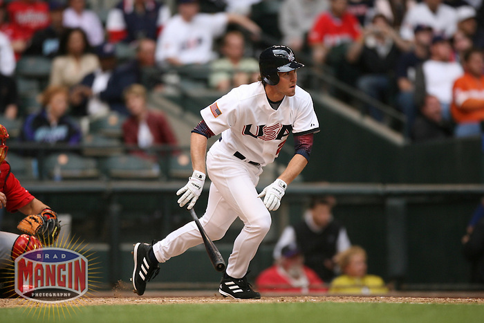 Chase Utley. Baseball: World Baseball Classic game between Canada and USA at Chase Field in Phoenix, AZ on March 8, 2006. Photo by Brad Mangin