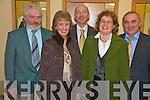 James and Joan Doyle, Peter Twiss, Maureen O'Shea and John Joe O'Connor at the Kerry senior team medal presentation in the Gleneagle on Friday night.