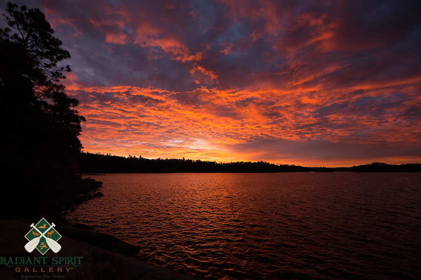 &quot;Sunrise on Crooked Lake&quot;<br />