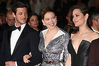 GASPARD ULLIEL, LEA SEYDOUX AND MARION COTILLARD - RED CARPET OF THE FILM 'JUSTE LA FIN DU MONDE' AT THE 69TH FESTIVAL OF CANNES 2016