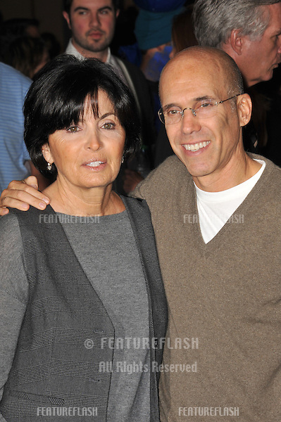 "Jeffrey Katzenberg & wife at the Los Angeles premiere of ""MegaMind"" at Mann's Chinese Theatre, Hollywood..October 30, 2010  Los Angeles, CA.Picture: Paul Smith / Featureflash"