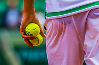 Paris, France, 31 May, 2017, Tennis, French Open, Roland Garros, Tennisplayer with balls<br /> Photo: Henk Koster/tennisimages.com