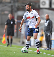 Preston North End's Joe Rafferty<br /> <br /> Photographer Dave Howarth/CameraSport<br /> <br /> The Carabao Cup First Round - Bradford City v Preston North End - Tuesday 13th August 2019 - Valley Parade - Bradford<br />  <br /> World Copyright © 2019 CameraSport. All rights reserved. 43 Linden Ave. Countesthorpe. Leicester. England. LE8 5PG - Tel: +44 (0) 116 277 4147 - admin@camerasport.com - www.camerasport.com