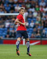 Martin Odegaard (Real Madrid) of Norway during the International EURO U21 QUALIFYING - GROUP 9 match between England U21 and Norway U21 at the Weston Homes Community Stadium, Colchester, England on 6 September 2016. Photo by Andy Rowland / PRiME Media Images.