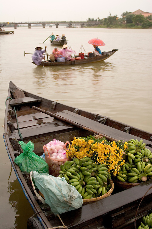 Produce ready for market on the riverfront of Hoi An, central Vietnam