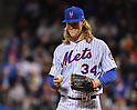 Noah Syndergaard (Mets),<br /> OCTOBER 5, 2016 - MLB :<br /> Pitcher Noah Syndergaard of the New York Mets reacts in the sixth inning during the National League Wild Card Game against the San Francisco Giants at Citi Field in Flushing, New York, United States. (Photo by Hiroaki Yamaguchi/AFLO)