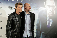 Actor Willem Dafoe (L) and director David Cage attend 'Beyond: dos almas' ('Beyond: two souls') presentation photocall at Callao cinema on September 30, 2013 in Madrid, Spain. (ALTERPHOTOS/Victor Blanco)