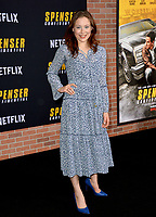 """LOS ANGELES, CA: 27, 2020: Mina Sundwall  at the world premiere of """"Spenser Confidential"""" at the Regency Village Theatre.<br /> Picture: Paul Smith/Featureflash"""