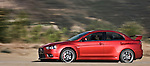 High speed motion pan of a 2009 Mitsubishi Lancer Evolution MR.